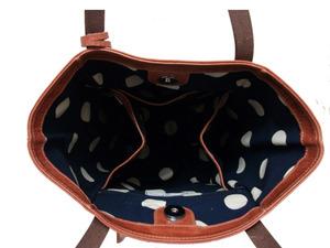 バッファロー革バケツ型デイリーバッグ