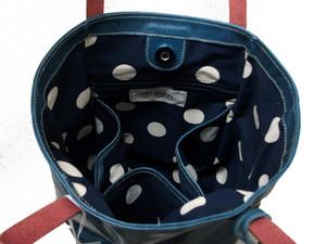 バッファロー革バケツ型バッグ