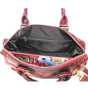 アニマル型押しhンドル大きめバッグ