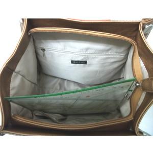 トリコロール縦型トート
