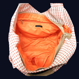 ブレード重ね折り柄バッグ