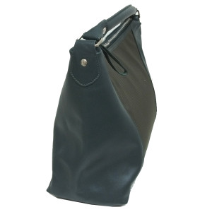 シャープライン牛革×メッシュバッグ