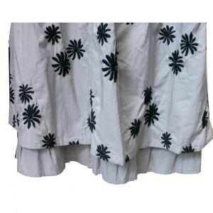 綿花刺繍ツーピース